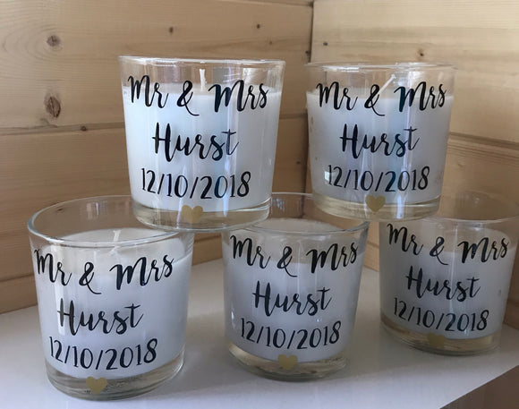 Personalised Small Candle