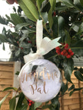 Personalised Memorial Bauble