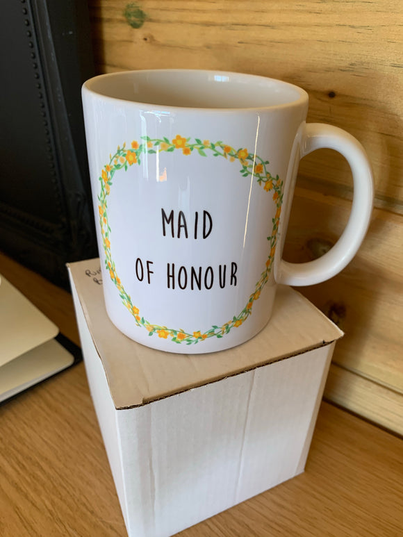 SALE! Maid of Honour Mug (yellow)