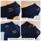 Personalised Boxers