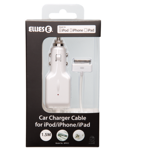 Car Charger Cable iPod/ iPhone/ iPad