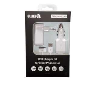 iPod LIC Charger KIT, iPod to USB Cable, Car & AC Charger