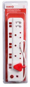6 Way (4X16A/2X5A) Multiplug  with Surge