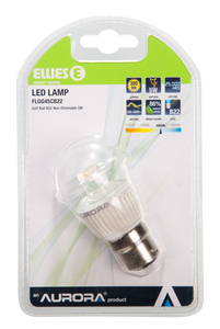 LED Non-Dimmable Lamp Golf Ball 5W  B22 4000K