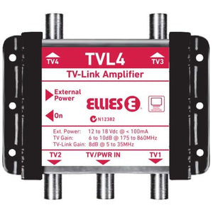 4 Way Indoor TV -Link Distribution Amplifier