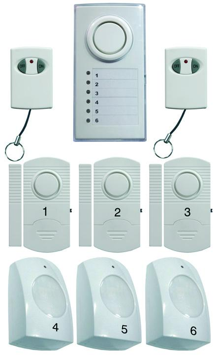 6 Zone Wireless Alarm System