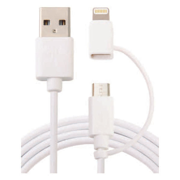 2 in 1 USB2.0 Lightning to Micro USB Adaptor Kit 1m
