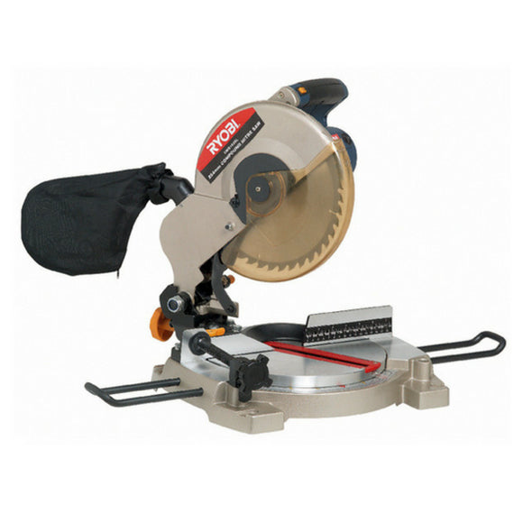 "RYOBI MITRE SAW 254MM 1800W COMPOUND"" WITH LASER LIGHT CMS-1825L"