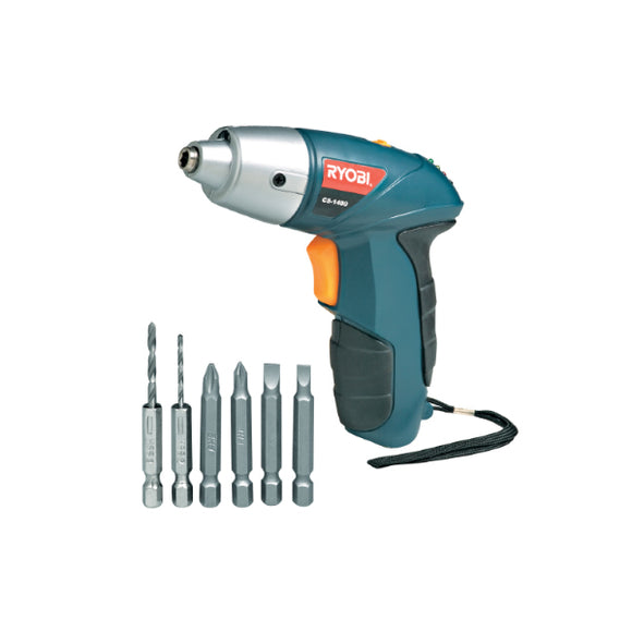 Screwdriver 4.8V With 4 Bits + 2 Drill Bits