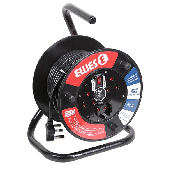 15M Extension Reel With Surge (1MM/10A)