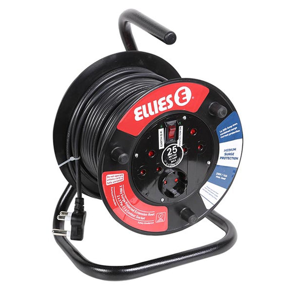 25M Extension Reel with Surge Protection