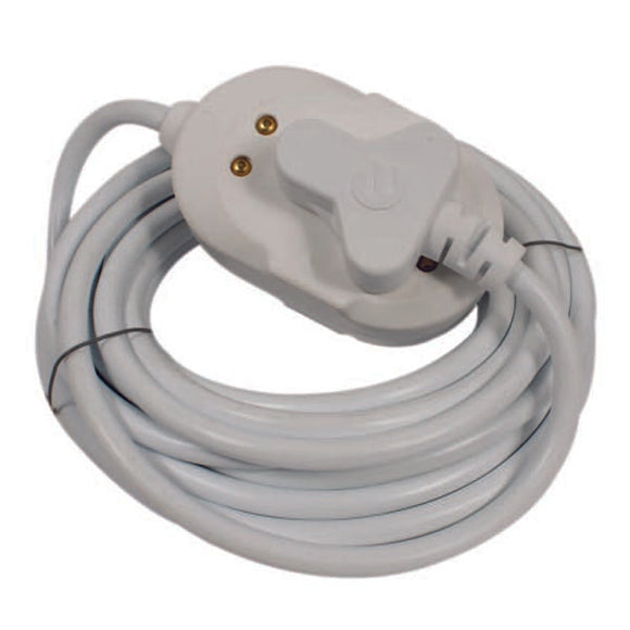 3m Extension Cable with back to back Coupler - White