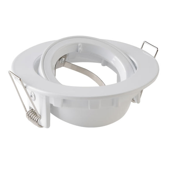 GU10 Downlight Trim Ring 95mm - White Adjustable