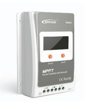 MPPT Solar Charge Controller with Display 40A