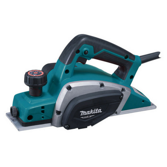 Makita MT 82mm Planer 500W 2mm Capacity - Soft Grip Handle
