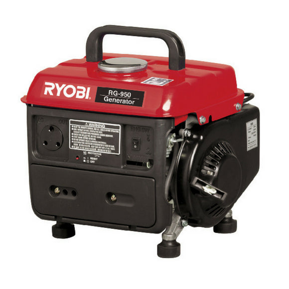 Ryobi Generator Max 950W Cons. 650KVA 2-Stroke Air-cooled RG-950