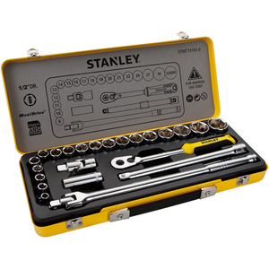 "Stanley 1/2"" Socket Set In Metal Tin-24 Piece"