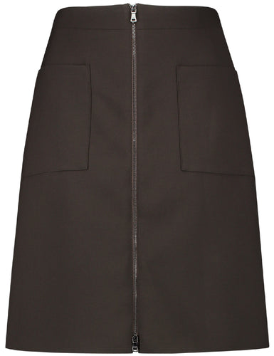 Chocolate Brown Skirt - ELIZABETH SCHINDLER