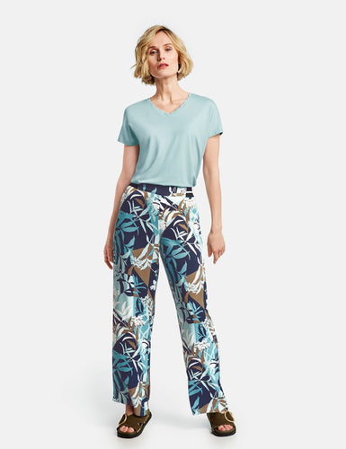 Trousers with Floral Print - ELIZABETH SCHINDLER