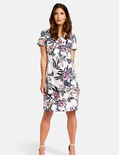 Dress with a Floral Print - ELIZABETH SCHINDLER