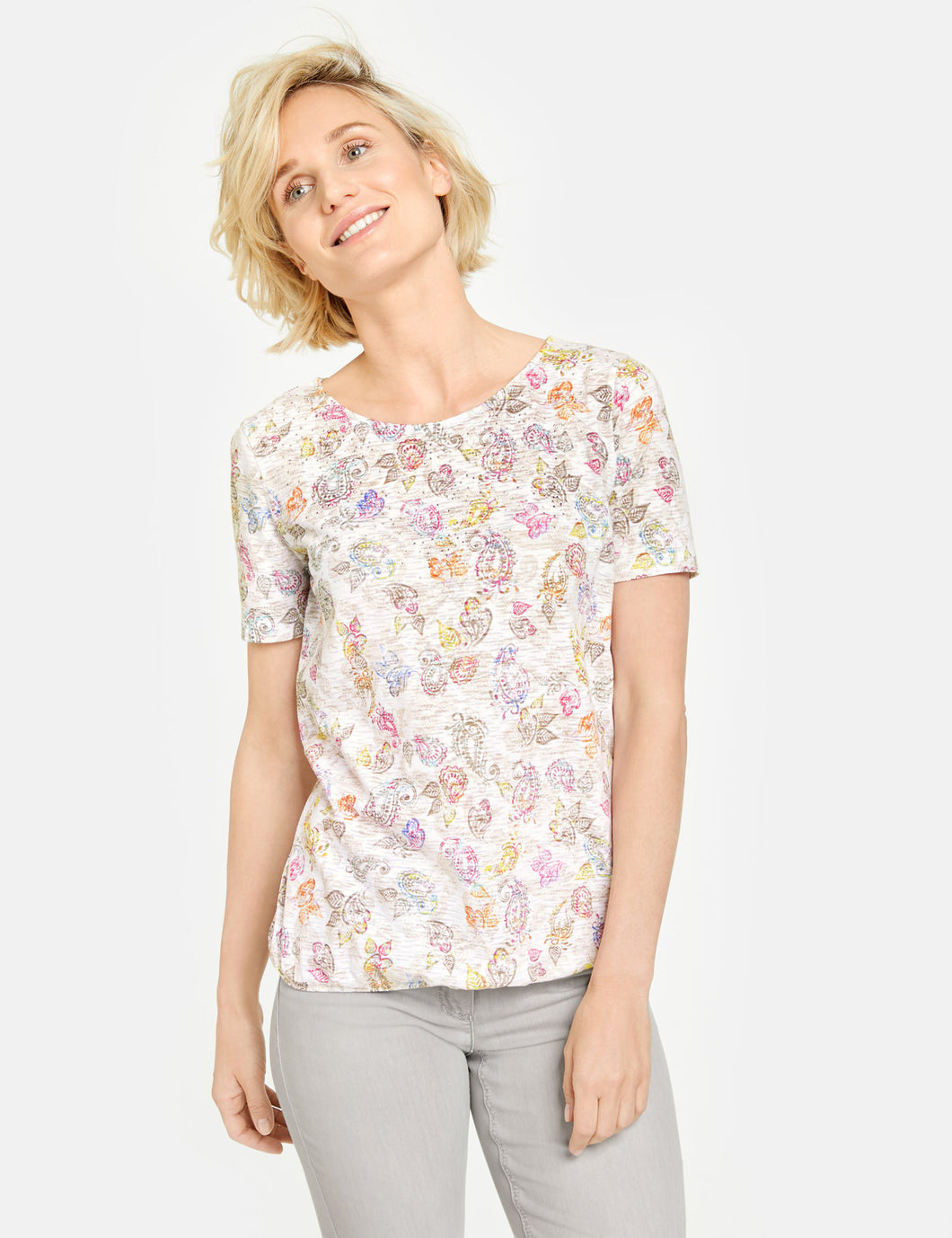 T-shirt with Print - ELIZABETH SCHINDLER