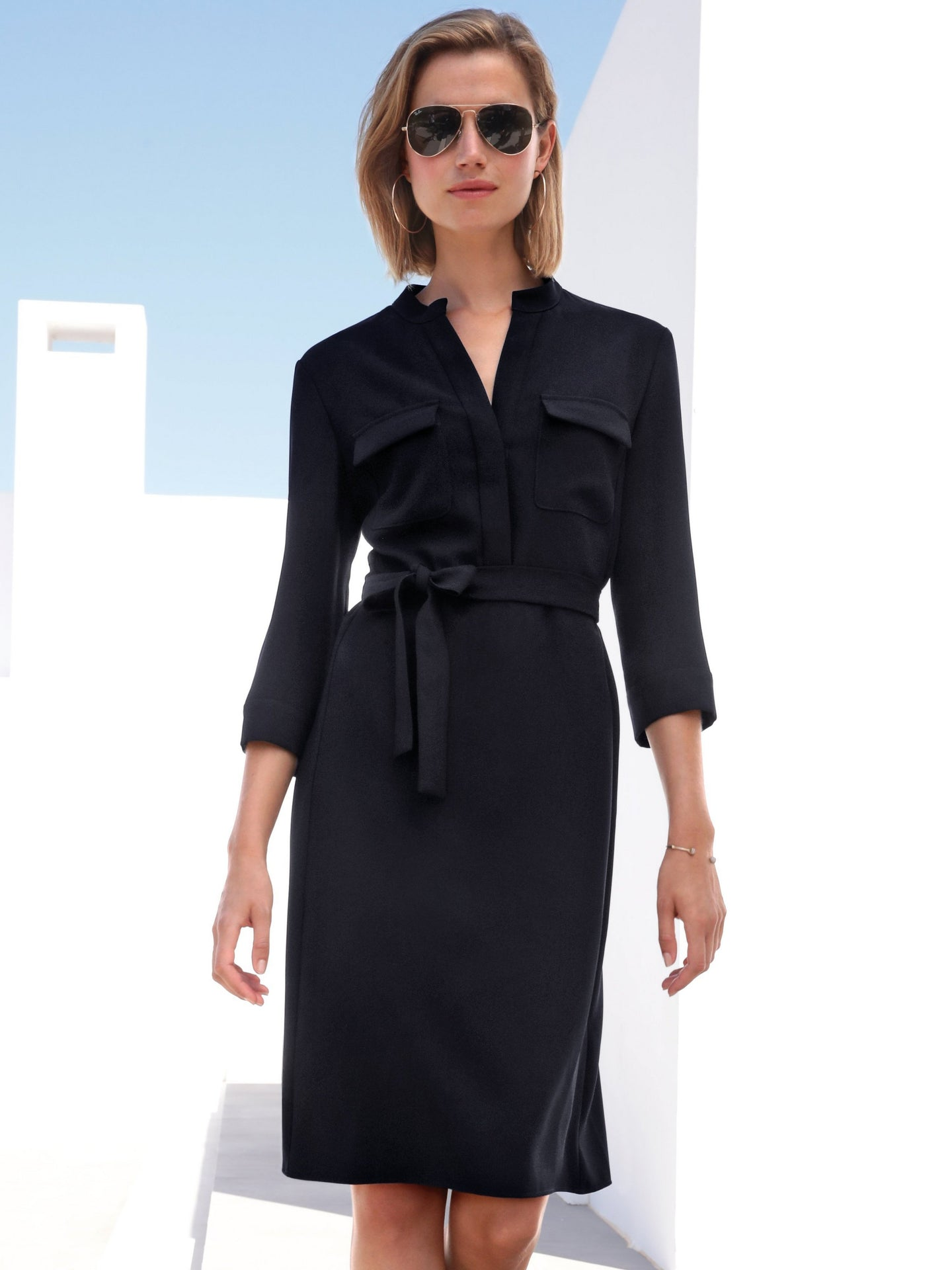 3/4 Sleeve Dress - ELIZABETH SCHINDLER