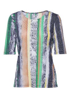 Top with Print - ELIZABETH SCHINDLER