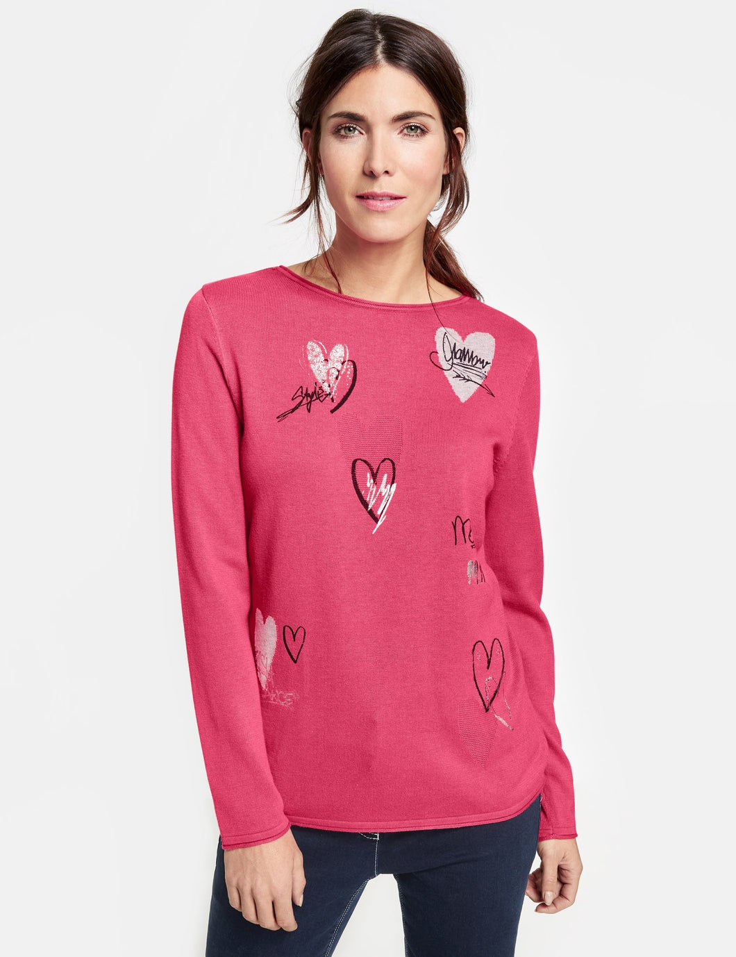 Pullover with Hearts - ELIZABETH SCHINDLER