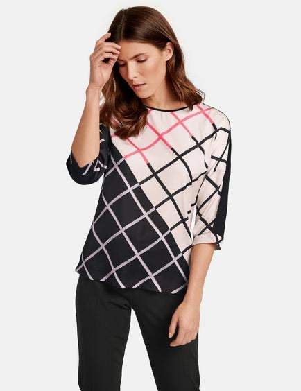 Diagonal Check Top - ELIZABETH SCHINDLER
