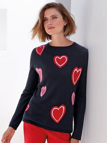 Pullover with Hearts