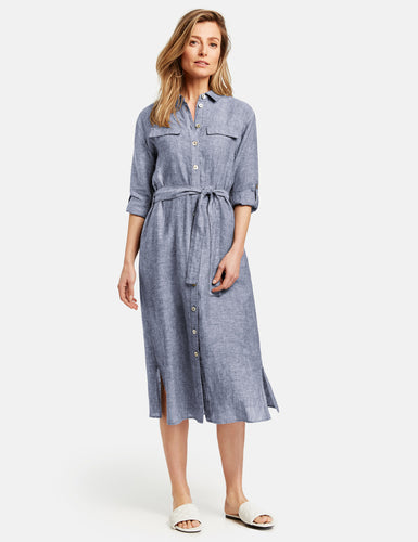 Linen Dress - ELIZABETH SCHINDLER
