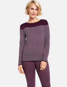 Pullover with Stripes - ELIZABETH SCHINDLER