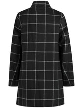 Coat with Windowpane Check - ELIZABETH SCHINDLER