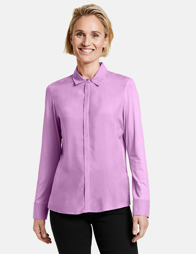 Cupro/Jersey Blouse