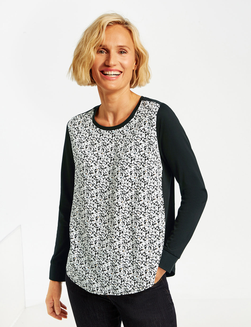Top with Printed Front