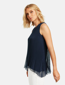 Pleated Blouse Top - ELIZABETH SCHINDLER