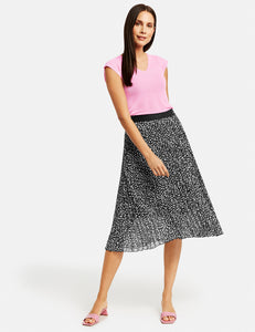 Pleated Pull-on Skirt - ELIZABETH SCHINDLER
