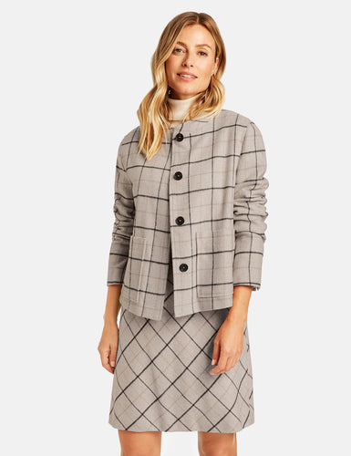 Windowpane Check Jacket