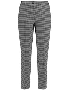 Pants with a Mini Check Pattern