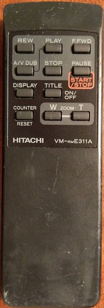 Hitachi VM-RME311A Camcorder Remote Control Replacement ~ IR Tested Successfully