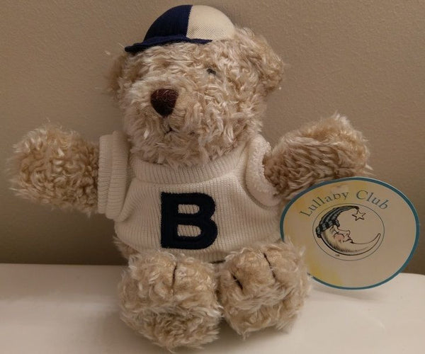 Lullaby Club Tan Teddy Bear Plush 1998 Baseball Cap with Tags