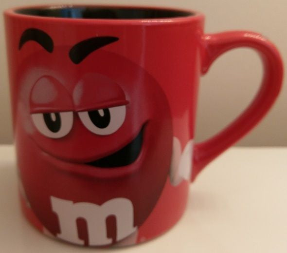 M&M Red Large Coffee Mug Tea Cup Porcelain Ceramic Official License Product Mars