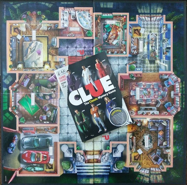 CLUE 2011 Replacement Game Board with Instructions - Board Folds into 1/4 Square