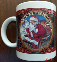 Twas The Night Before Christmas with Santa Claus in Sleigh Coffee Mug Cocoa Cup