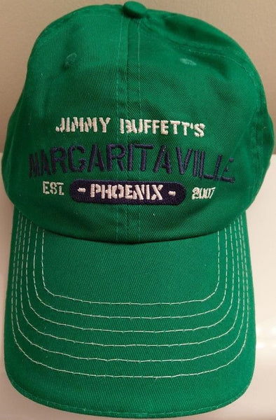 Jimmy Buffetts Margaritaville Phoenix Est 2007 Green Baseball Hat Cap Adjustable