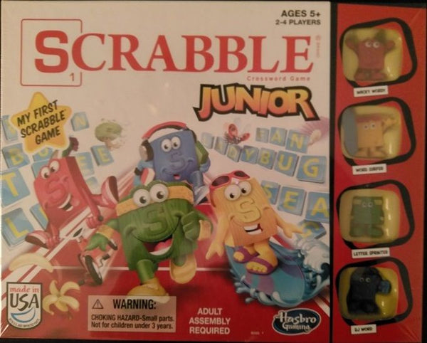 Scrabble Junior Crossword Game with Wacky Surfer Sprinter and DJ Figures