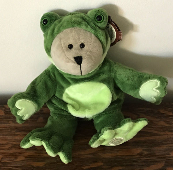 Starbucks Bearista Bear Plush 39th Edition Green Conservation Frog 2005