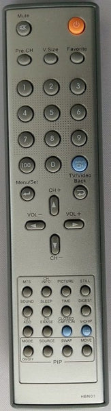 HARSPER HBN01 TV Remote Control For HP-5000V HL-4010V HL-3710V HL-3210V HP-6300V