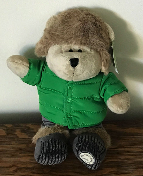 Starbucks 104th Edition Bearista Bear Winter Green Hat Coat Stuffed 2011