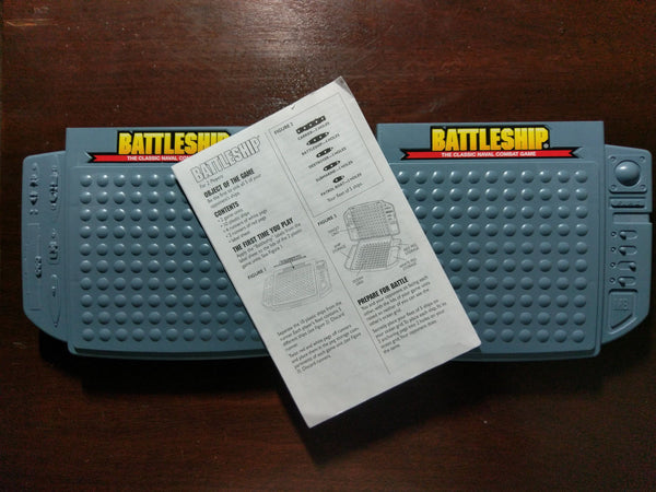 Battleship The Classic Naval Combat Game by Milton Bradley 1998 w/ Instructions